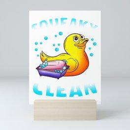 Cute Squeaky Clean Rubber Duck Bath Time Duckling Mini Art Print