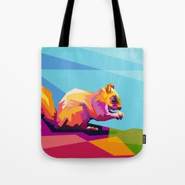 Squirrel Colorfull Tote Bag