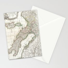 Vintage Map of Italy (1770) Stationery Cards