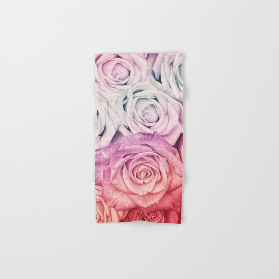 Some people grumble II  Floral rose flowers pink and multicolor Hand & Bath Towel