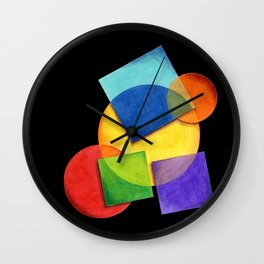 Rainbow Candy Geometric Wall Clock