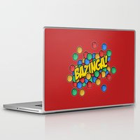 bazinga Laptop & iPad Skins featuring Bazinga! by Skeleton Jack