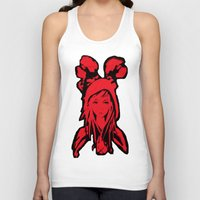 red riding hood Tank Tops featuring Miss Red riding hood  by Sammycrafts