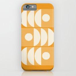 Mid Century Modern Shapes Art in Golden Mustard  iPhone Case