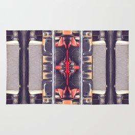 Abstract Mechanical Configuration Rug