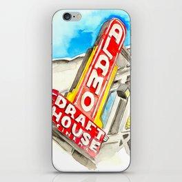 Alamo Drafthouse watercolor iPhone Skin