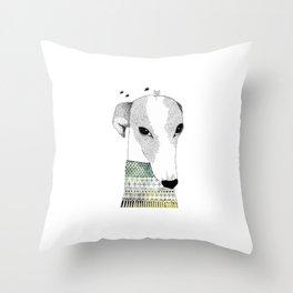 Mr. Galgo Dog Throw Pillow