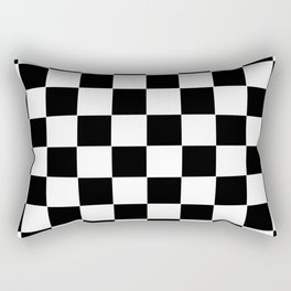 Checker Cross Squares Black & White Rectangular Pillow