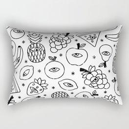 Paranoid fruit Rectangular Pillow