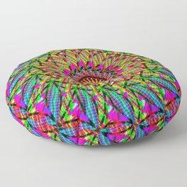 rainbow mandala Floor Pillow
