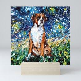 Boxer Night Mini Art Print