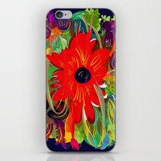 Beautiful flower art pattern decorative iPhone Skin