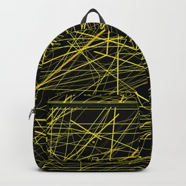 Industrial Design yellow black laser light ray night scaffolding Angelis Backpack