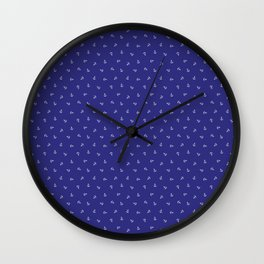 Mini Anchors in the Blue Wall Clock