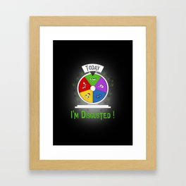 I am Disgusted Framed Art Print