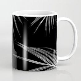 Silver Gray Black Palm Leaves Dream #1 #tropical #decor #art #society6 Coffee Mug