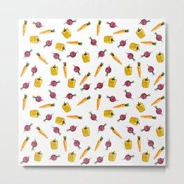 Veggie pattern Metal Print