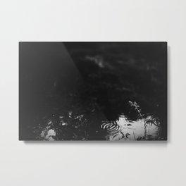 Rain on the Pond Metal Print