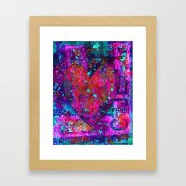 heARTFUL 2 - Mixed Media Art Framed Art Print