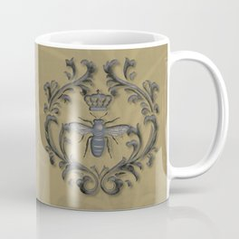 French Bee with Gold Damask Background Coffee Mug