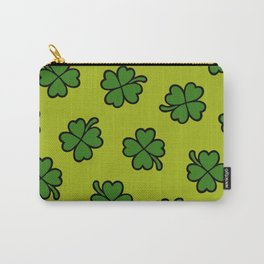 Lucky Four Leaf Clover Pattern Carry-All Pouch