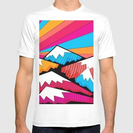 Winter rainbow mountains T-shirt