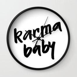 karma baby Wall Clock