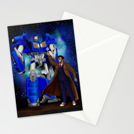10th Doctor who with Giant retro Robot Stationery Cards