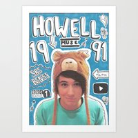 danisnotonfire Art Prints featuring danisnotonfire collage by emma
