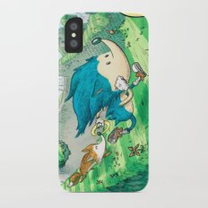 Starring Sonic and Miles 'Tails' Prower (Blue Version) Slim Case iPhone X