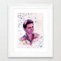 jake Framed Art Prints featuring Jake by Olga Noes