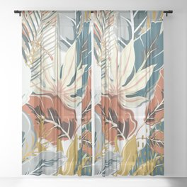 Tropical Wild Jungle Sheer Curtain