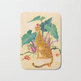 Cheetah and Apples Bath Mat