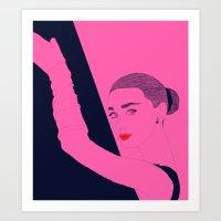 hepburn Art Prints featuring Hepburn by Agnes Domokos