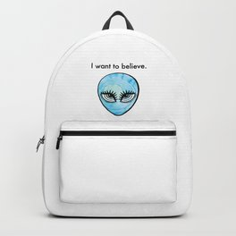I Want to Believe, Watercolor Alien Girl Backpack