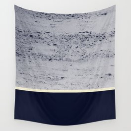 Navy Blue Pale Yellow on Navy Blue Concrete #1 #decor #art #society6 Wall Tapestry