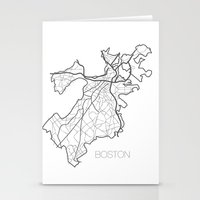 boston Stationery Cards featuring Boston by linnydrez