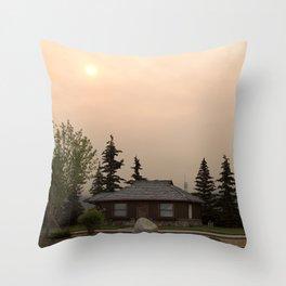 Morning Haze Throw Pillow