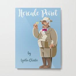 Agatha Christie's Hercule Poirot Metal Print