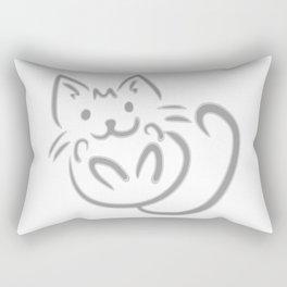 cat feline cute pet animal Rectangular Pillow