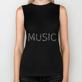 Music typo - inverted Biker Tank