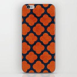 navy and orange clover iPhone Skin