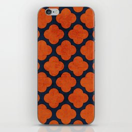 navy and orange clover iPhone Skin