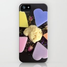 soap and natural sponge iPhone Case