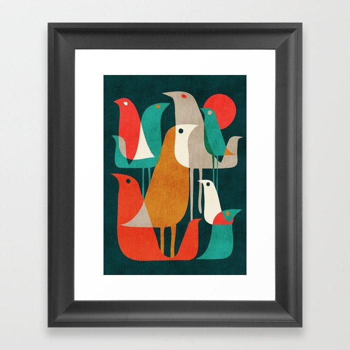 Flock of Birds Gerahmter Kunstdruck