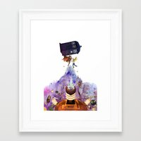 doctor who Framed Art Prints featuring Doctor Who by Anthony Wallace