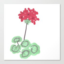 Wembley Gem Red Flower Canvas Print
