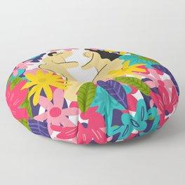Couple Flowes Floor Pillow