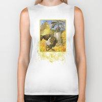 ostrich Biker Tanks featuring Ostrich by Natalie Berman