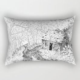 Forest Cottage Rectangular Pillow